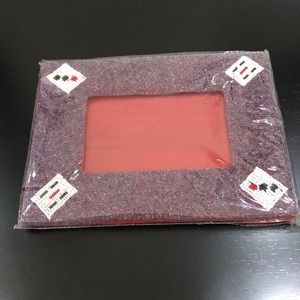 Picture Frame totally Beaded w Design Corners